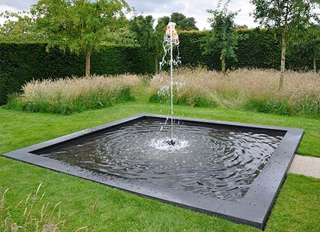 'Fire and Water' fountain at Houghton Hall. David Cholmondeley has done great things with the garden in the past 10 years.